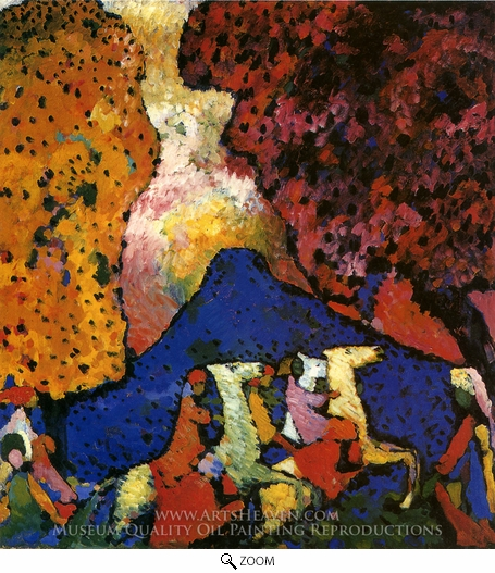 Wassily Kandinsky, The Blue Mountain oil painting reproduction