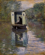 The Boat Studio painting reproduction, Claude Monet