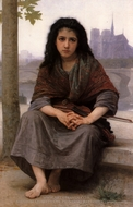 The Bohemian (Bohemienne) painting reproduction, William A. Bouguereau