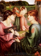 The Bower Meadow painting reproduction, Dante Gabriel Rossetti