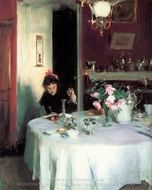 The Breakfast Table painting reproduction, John Singer Sargent