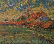 The Brickyard (Dangast) painting reproduction, Erich Heckel