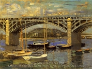The Bridge at Argenteuil painting reproduction, Claude Monet
