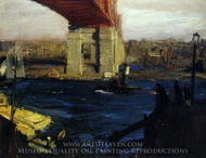 The Bridge, Blackwell's Island painting reproduction, George Bellows