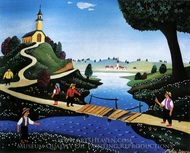 The Broken Bridge painting reproduction, Mikhail Dascalu