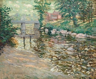 The Bronx River painting reproduction, Ernest Lawson