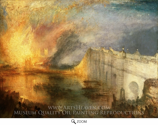 Joseph M. W. Turner, The Burning of the House of Lords and Commons oil painting reproduction