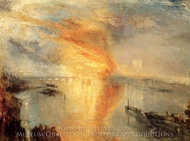 The Burning of the Houses of Parliament painting reproduction, Joseph M. W. Turner