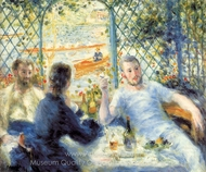 The Canoeists' Luncheon painting reproduction, Pierre-Auguste Renoir
