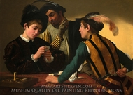 The Cardsharps painting reproduction, Caravaggio