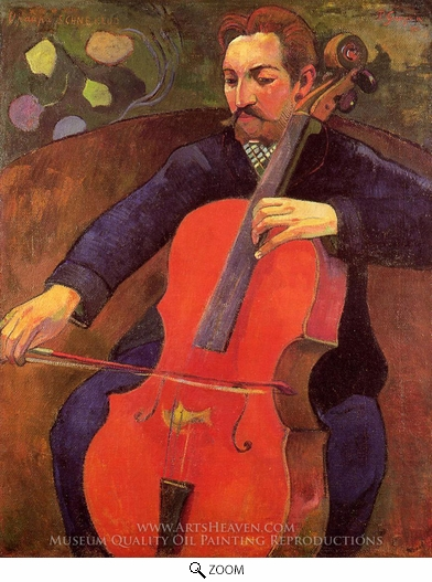 Paul Gauguin, The Cellist (Portrait of Fritz Scheklud) oil painting reproduction