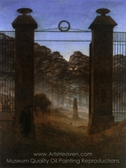 The Cemetery Entrance painting reproduction, Caspar David Friedrich