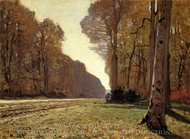 The Chailly Highway painting reproduction, Claude Monet