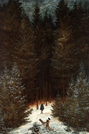 The Chasseur in the Woods painting reproduction, Caspar David Friedrich