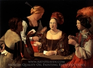 The Cheat with the Ace of Diamonds painting reproduction, Georges De La Tour
