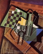 The Checkerboard painting reproduction, Juan Gris
