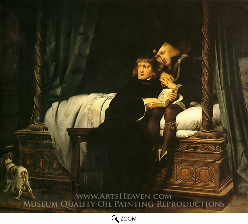 Paul Delaroche, The Children of King Edward Imprisoned in the Tower oil painting reproduction