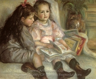 The Children of Martial Caillebotte painting reproduction, Pierre-Auguste Renoir
