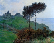The Church of Varengeville, Cloudy Weather painting reproduction, Claude Monet