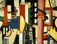 The City painting reproduction, Fernand Leger