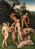 The Close of the Silver Age painting reproduction, Lucas Cranach