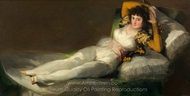 The Clothed Maja painting reproduction, Francisco De Goya