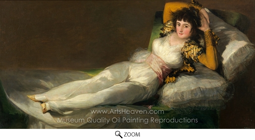 Francisco De Goya, The Clothed Maja oil painting reproduction