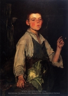 The Cobbler's Apprentice painting reproduction, Frank Duveneck
