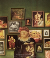 The Collector painting reproduction, Fernando Botero
