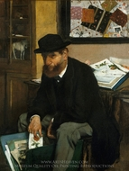 The Collector of Prints painting reproduction, Edgar Degas