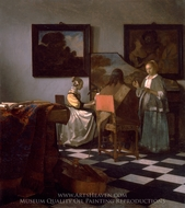 The Concert painting reproduction, Jan Vermeer