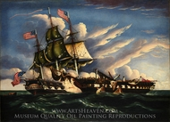 The Constitution and the Guerriere painting reproduction, Thomas Chambers