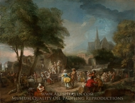 The Country Dance painting reproduction, Gabriel-Jacques De Saint-Aubin