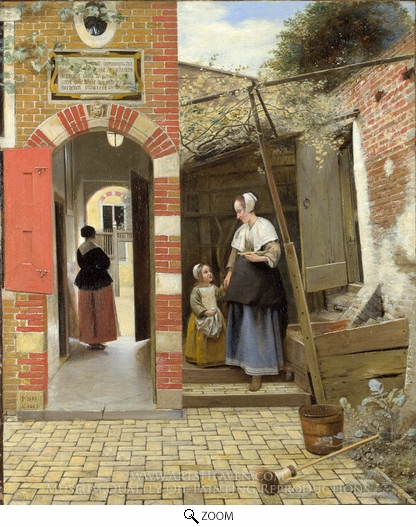 Who Painted The Courtyard Of A House In Delft