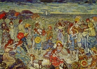 The Cove painting reproduction, Maurice Prendergast