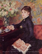 The Cup of Chocolate painting reproduction, Pierre-Auguste Renoir
