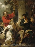 The Damsel and Orlando painting reproduction, Benjamin West