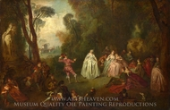 The Dance painting reproduction, Jean-Baptiste Joseph Pater