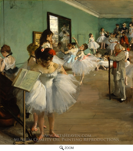Edgar Degas, The Dance Class oil painting reproduction