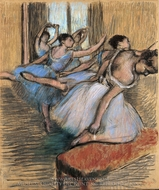 The Dancers painting reproduction, Edgar Degas