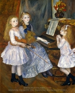 The Daughters of Catulle Mendes painting reproduction, Pierre-Auguste Renoir