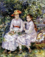 The Daughters of Paul Durand-Ruel (Marie-Therese and James) painting reproduction, Pierre-Auguste Renoir