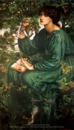 The Day Dream painting reproduction, Dante Gabriel Rossetti