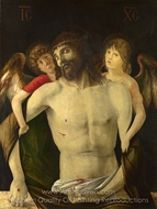 The Dead Christ Supported by Angels painting reproduction, Giovanni Bellini