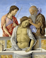 The Dead Christ Supported by Saints painting reproduction, Marco Zoppo