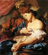 The Death of Cleopatra painting reproduction, Johann Liss