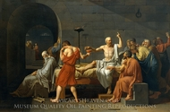 The Death of Socrates painting reproduction, Jacques-Louis David