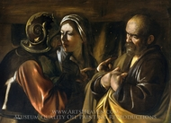 The Denial of Saint Peter painting reproduction, Caravaggio