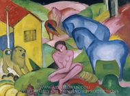 The Dream painting reproduction, Franz Marc