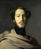 The Duc d'Orleans painting reproduction, Jean Auguste Dominique Ingres